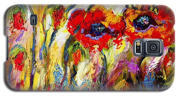 Red Poppies And Bees Provence Dreams Galaxy S5 Case