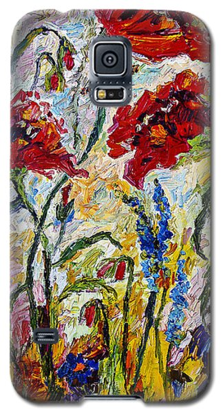 Red Poppies And Bees Provence Galaxy S5 Case