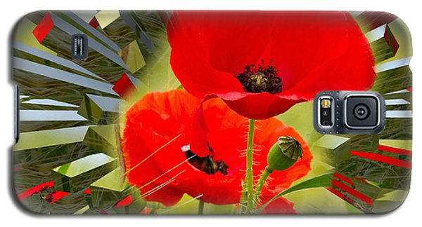 Red Poppies Go Digital Galaxy S5 Case
