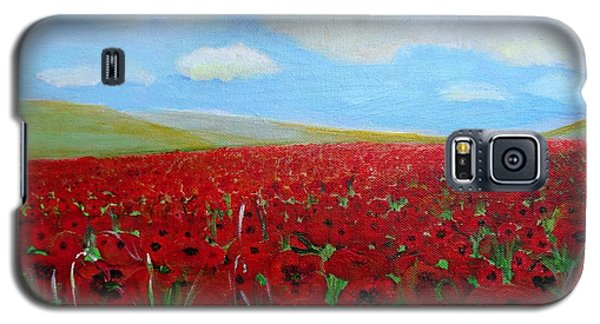 Red Poppies In Remembrance Galaxy S5 Case