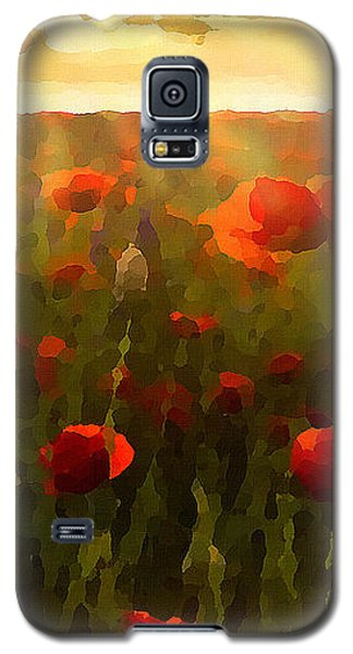 Red Poppies In The Sun Galaxy S5 Case