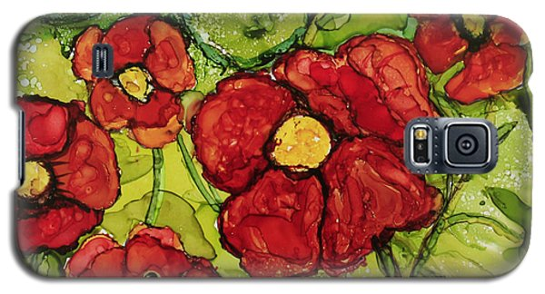 Galaxy S5 Case featuring the painting Red Poppies by Suzanne Canner