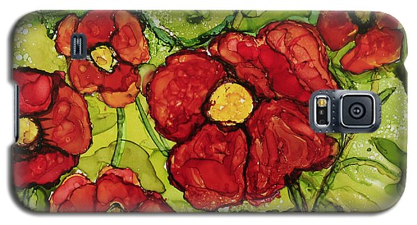 Red Poppies Galaxy S5 Case by Suzanne Canner