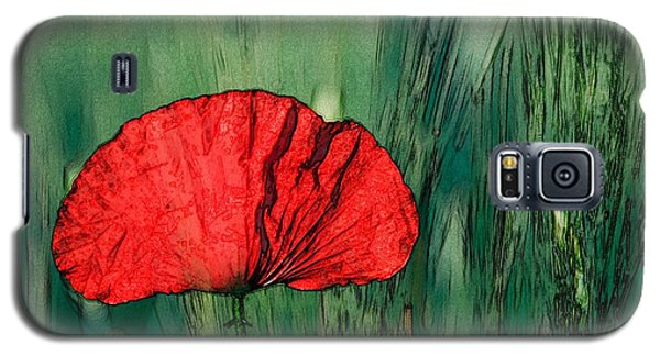 Galaxy S5 Case featuring the photograph Red Poppy Flower by Jean Bernard Roussilhe