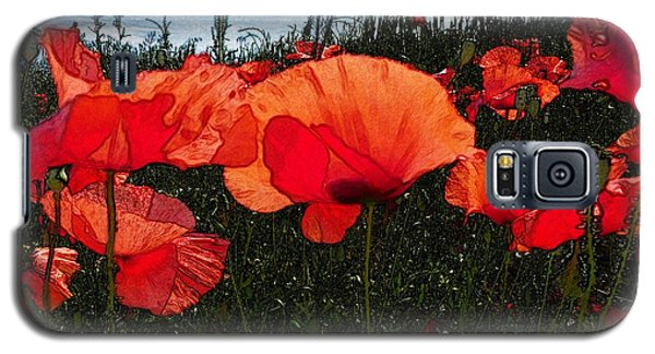 Galaxy S5 Case featuring the photograph Red Poppy Flowers In Grassland by Jean Bernard Roussilhe