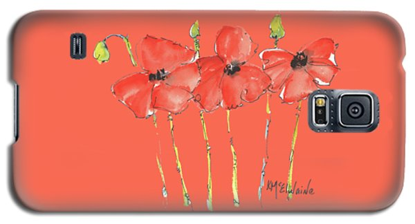 Red Poppy Play Galaxy S5 Case