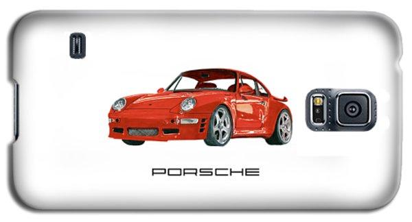 Red Porsche 993 1997 Twin Turbo R Galaxy S5 Case by Jack Pumphrey