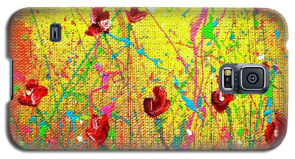 Red Posies Galaxy S5 Case