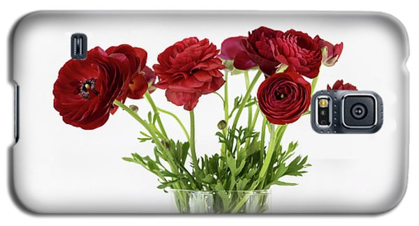 Galaxy S5 Case featuring the photograph Red Ranunculus by Kim Hojnacki