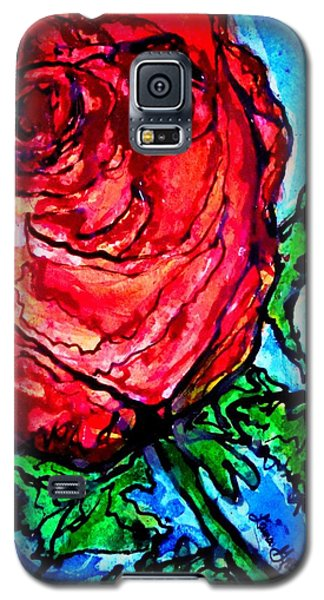 Red Red Rose Galaxy S5 Case by Laura  Grisham
