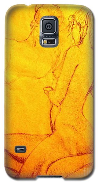 Galaxy S5 Case featuring the drawing Red Reflection by Vonda Lawson-Rosa