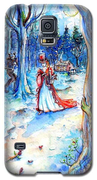 Galaxy S5 Case featuring the painting Red Riding Hood And Werewolves by Heather Calderon