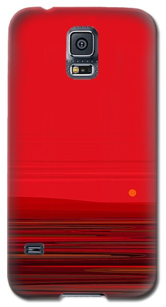 Galaxy S5 Case featuring the digital art Red Ripple II by Val Arie