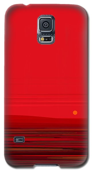 Red Ripple II Galaxy S5 Case by Val Arie