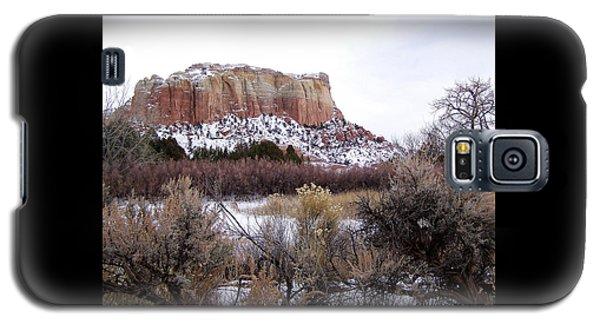 Red Rock Butte In Snow Galaxy S5 Case