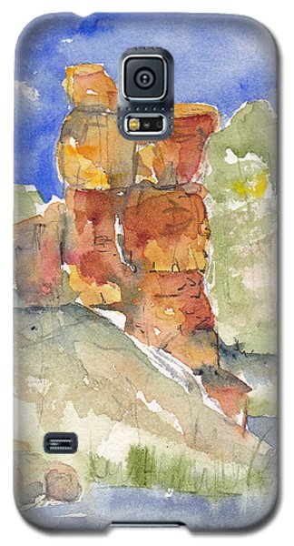 Galaxy S5 Case featuring the painting Red Rock  Canyon by Anne Duke