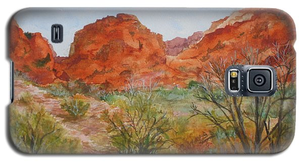 Galaxy S5 Case featuring the painting Red Rock Canyon by Vicki  Housel