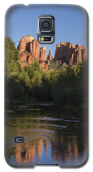 Galaxy S5 Case featuring the photograph Red Rock Reflections by Laura Pratt