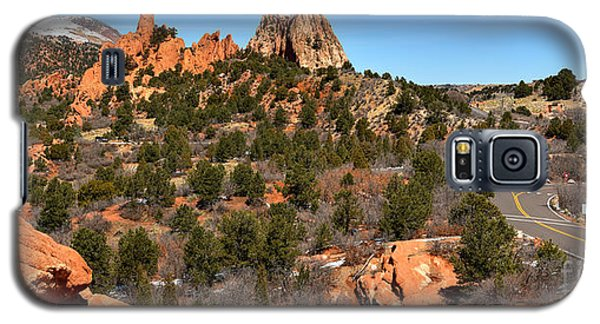 Galaxy S5 Case featuring the photograph Red Rocks At High Point by Adam Jewell