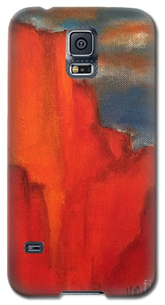 Galaxy S5 Case featuring the painting Red Rocks by Kim Nelson