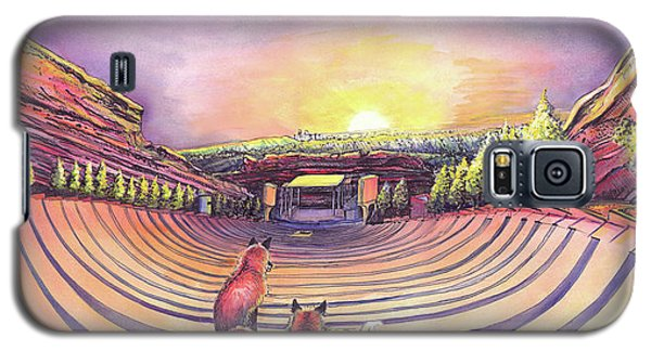 Foxes At Red Rocks Sunrise Galaxy S5 Case