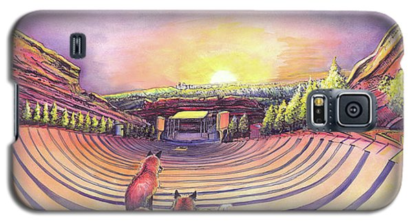 Galaxy S5 Case featuring the painting Red Rocks Sunrise by David Sockrider