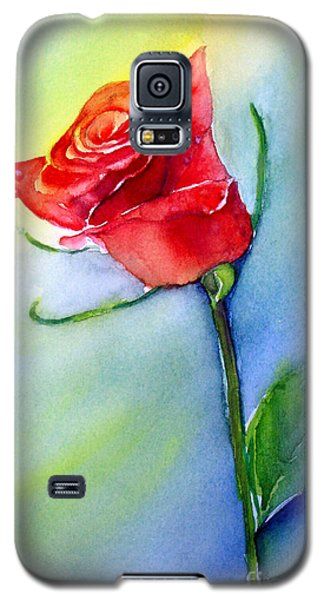 Red Rose Galaxy S5 Case by Allison Ashton