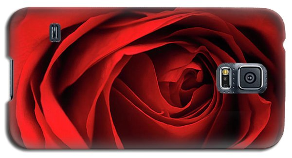 Galaxy S5 Case featuring the photograph Red Rose Flower by Charline Xia