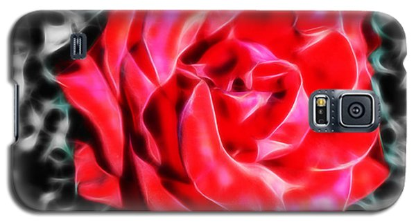Red Rose Fractal Galaxy S5 Case