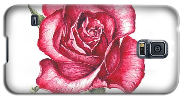 Galaxy S5 Case featuring the painting Red Rose by Heidi Kriel