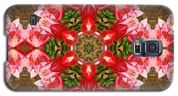 Red Rose Kaleidoscope Galaxy S5 Case by Bill Barber
