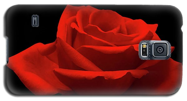 Red Rose On Black Galaxy S5 Case