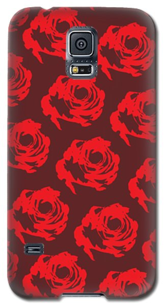 Red Rose Pattern Galaxy S5 Case by Cortney Herron