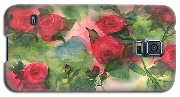 Galaxy S5 Case featuring the painting Red Roses by Lucia Grilletto