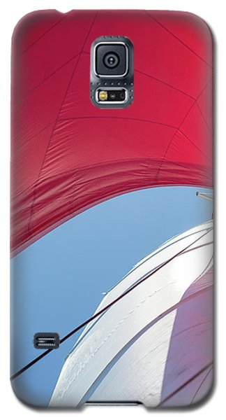 Galaxy S5 Case featuring the photograph Red Sail On A Catamaran 4 by Clare Bambers