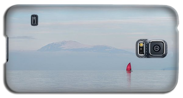 Red Sailboat On Lake Galaxy S5 Case