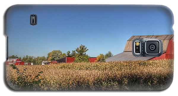 0042 - Red Saltbox Barn Galaxy S5 Case