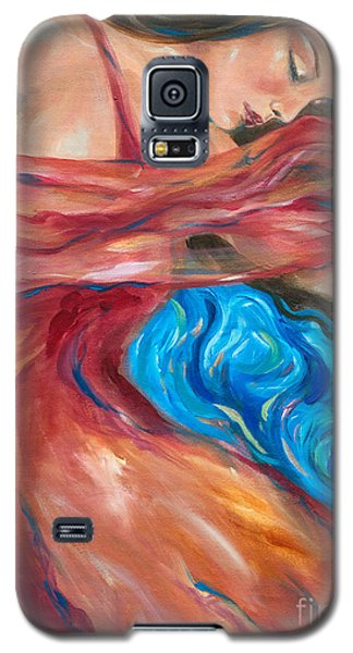 Red Scarf Galaxy S5 Case by Linda Olsen