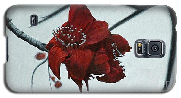 Red Silk Cotton Flower Galaxy S5 Case by Jennifer Watson