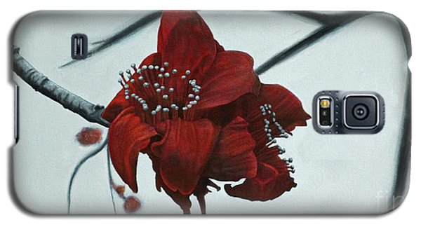Galaxy S5 Case featuring the painting Red Silk Cotton Flower by Jennifer Watson