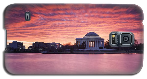 Galaxy S5 Case featuring the photograph Red Skies At Dawn by Edward Kreis