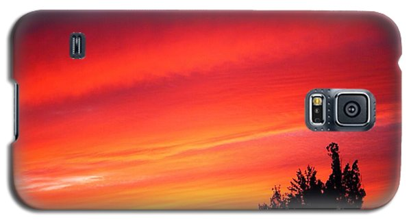 Galaxy S5 Case featuring the photograph Red Skies At Night  by Nick Gustafson