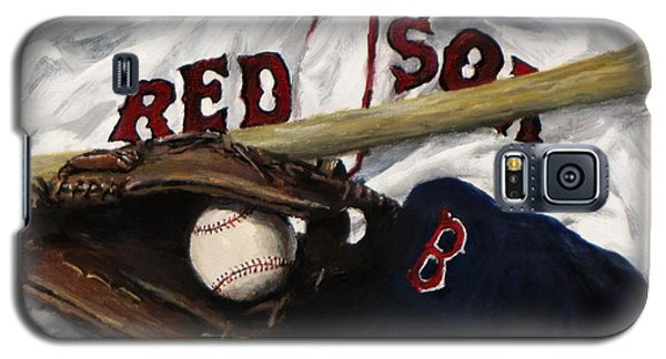 Red Sox Number Nine Galaxy S5 Case by Jack Skinner