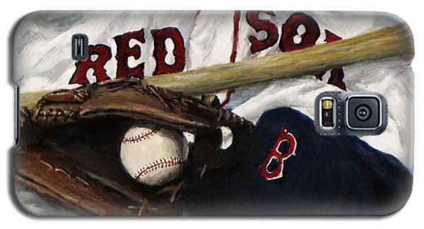 Bat Galaxy S5 Case - Red Sox Number Nine by Jack Skinner