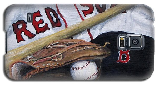 Red Sox Number Six Galaxy S5 Case by Jack Skinner