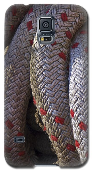 Red Speckled Rope Galaxy S5 Case by Henri Irizarri