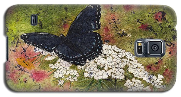 Red Spotted Purple Butterfly Queen Annes Lace Batik Galaxy S5 Case
