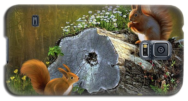 Red Squirrels Galaxy S5 Case by Thanh Thuy Nguyen