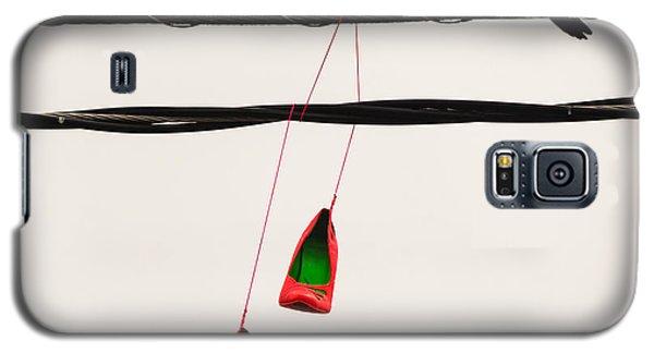 Red Stilettos With Bird Galaxy S5 Case