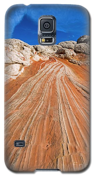 Galaxy S5 Case featuring the photograph Red Stone Highway by Mike Dawson